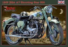 bsa motorcycles | 1955 BSA A7 Shooting Star 500