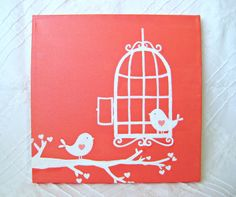 Open Bird Cage -10X10 Canvas Acrylic Painting, Wall Art, Home Decor by FancifulChaos on Etsy https://www.etsy.com/transaction/75437855