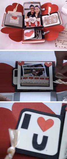 Exploding Love Box   DIY Valentine Gifts for Him   DIY Valentine Gifts for Boyfriend