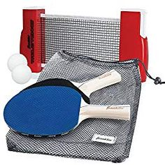 Franklin Sports Table Tennis To-Go - Complete Portable Ping-Pong Set - Includes Ping-Pong Paddles, Balls, and Net, Plus Easy-Carry Bag - Easy Set-Up - Expands to - Easily Attaches to Table Surfaces Tennis Clubs, Golf Clubs, Ping Golf Bags, Table Tennis Game, Tennis Party, How To Play Tennis, Ping Pong Paddles, Portable Table, Tennis Tips
