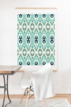 Buy Art Print And Hanger with Ikat Java Mint designed by Amy Sia. One of many amazing home décor accessories items available at Deny Designs. Ikat Print, Rough Diamond, Home Decor Accessories, Home Goods, Hanger, New Homes, House Design, Art Prints, House Styles