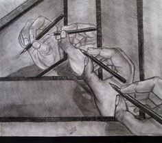 creativity - Sketching by Harshit Bhachech in charcoal work at touchtalent