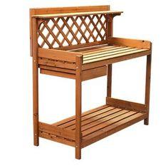 Amazon.com : NEW Outdoor Garden Potting Bench Station Potters Bench Garden Potting Tools Area : Outdoor Storage Benches : Patio, Lawn & Garden