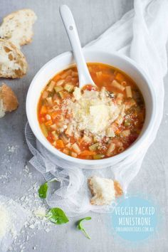 Veggie-Packed Minestrone - One Handed Cooks