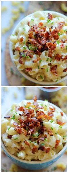 Gruyere Bacon Mad and Cheese - Mac and cheese is always better when crisp bacon goodness is involved, especially in this easy stovetop, no-fuss 30 min dish from start to finish!