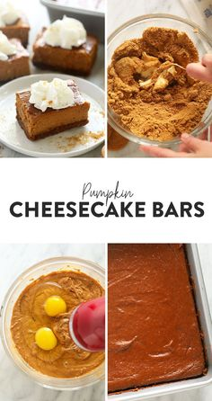 Say hello to the ultimate harvest dessert! These Pumpkin Cheesecake Bars with a gingersnap crust and a delicious pumpkin pie cheesecake filling are perfect for wowing your dinner guests, but easy enough for a simple night in. Frozen Cheesecake, Pumpkin Cheesecake Bars, Raspberry Cheesecake, Cheesecake Desserts, Frozen Pumpkin, Ginger Snap Cookies, Mini Cheesecakes, No Calorie Foods, Vegan