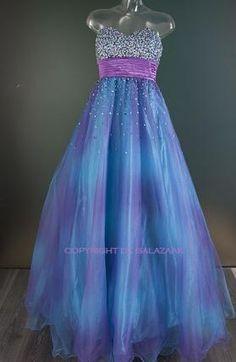 Prinsessenjurk in blauw met tule 2310