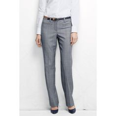 1442237929f4a Lands  End Yarn Dye Wear to Work Trousers ( 50) ❤ liked on Polyvore