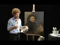 BOB ROSS -PORTRAIT PAINTING BOB ROSS STYLE