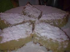 Ραβανί Θερμιώτικο πασπαλισμένο με άχνη ζάχαρη!! Greek Recipes, Feta, Cooking Recipes, Sweets, Cheese, Cake, Desserts, Sweet Pastries, Pie Cake