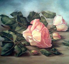 Title  Rose Flowers   Artist  Mojgan Jafari   Medium  Painting - Oil On Canvas #roses #oilpainting Beautiful!! @moongalleryca