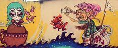 Graffiti Casal em alto mar