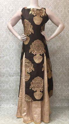 Brocade Silk Party Wear Lehengha Suit