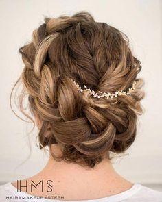 Boho crown braided updo by Stephanie Brinkerhoff