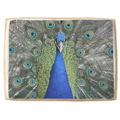 Blue Peacock Portrait Jumbo Shortbread Cookie - cool gift idea unique present special diy