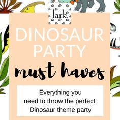Larkstore.com - your baby, kids & party on-line boutique has everything you need to throw a fantastic DINOSAUR THEMED party for your little dinosaur