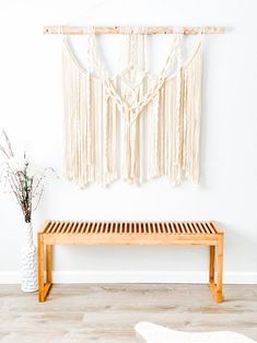 Love & Fiber features beautiful macrame and fiber art wall hanging pieces to fill your blank walls, make them pop with color and instantly add personality to any room. Large Macrame Wall Hanging, Hanging Wall Art, Wall Hangings, Bohemian Wedding Decorations, Bohemian Decor, Driftwood Macrame, Bohemian Living Rooms, Mid Century Modern Living Room, Large Wall Art