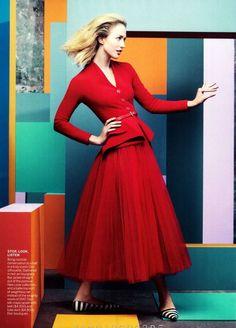 """Raquel Zimmermann   by Craig McDean   """"Full Spectrum"""" Vogue America December 2012"""