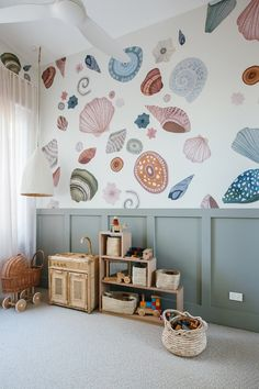Whether you want to create feature wall to ground the space or paint the entire room, there are some colours that lend themselves perfectly to a nursery and plenty of others you should steer clear of completely. Here, we share some tips and expert advice for finding the perfect paint colour for your nursery. Nursery Paint Colors, Nursery Decor, Bedroom Decor, Room Wall Painting, Nursery Paintings, Kyal And Kara, Diy Blinds, Removable Wall Stickers, Toy Rooms