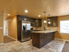 Layout and small size of basement kitchen
