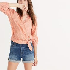 Wrap Shirt in Star Scatter