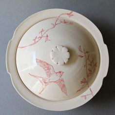 Covered Casserole Bird by Jessie Lazar. Love how delicate this is!