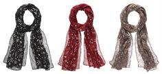 Metallic Snowflake Scarf - Ava Grace Fashions