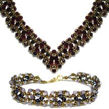 Ophelia Necklace & Bracelet Pattern at Sova-Enterprises.com