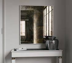 Photo of Golden Antiqued Wall Mirror