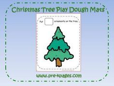 Decorate the Christmas Tree playdough counting mats via www.pre-kpages.com/xmas/