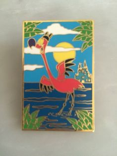 WDW-Disney-Pin-Flamingo-Wearing-Ear-Hat