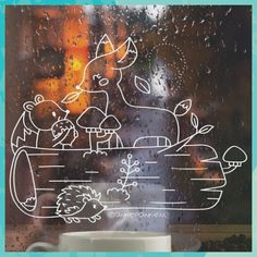 Christmas Bedroom, Christmas Time, Chalkboard Window, Christmas Chalkboard Art, Window Markers, Front Doors With Windows, Window Art, Marker Art, Cute Crafts