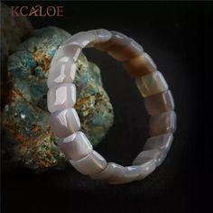 7cf481e85319 Kcaloe moda pulsera unisex para hombres mujeres Onyx Piedra Natural  estiramiento elástico Amuletos Pulseras y brazaletes
