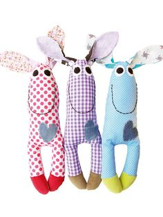 Cute Monsters..  I'm not big on the monster dolls but these ARE cute and would be easy for a baby to hold and shake!