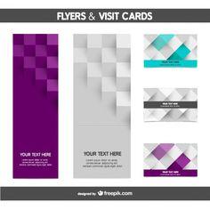 Passageiro e cartão de visita do mosaico Vetor grátis