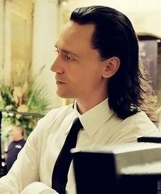 His hair...Tom Hiddleston's Loki hair is awesome!!!