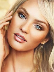 glowy makeup-- would be SUPER easy to do...and if you go warm blonde, will really compliment your coloring. #easyeyemakeup