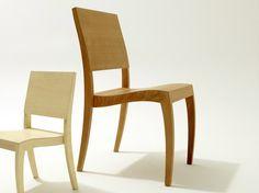 Stapelbarer Stuhl aus Holz GRASSHOPPER ² - sixay furniture
