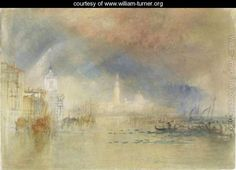 Venice Looking Towards The Dogana And San Giorgio Maggiore, With A Storm Approaching - Joseph Mallord William Turner - www.william-turner.org
