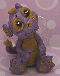 Fantasy Baby Dragon - One Of A Kind Polymer Clay Sculptures | TAFFY BABY DRAGON Polymer clay dragon | Flickr - Photo Sharing!