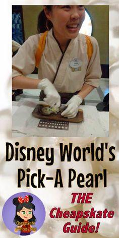 Disney World's Pick-A-Pearl: A Cheapskate Princess Guide – Disney's Cheapskate Princess Excellent guide to Disney World's Pick-A-Pearl experience and jewelry Disney World Tips And Tricks, Disney Tips, Disney Love, Disney Disney, Disney Parks, Disney Cruise, Disney 2017, Disney Travel, Disney Ideas