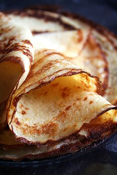 Crêpes au Chocolat à l'Orange 1 by Le Petrin, via Flickr.    I don't like fruit mixing with my chocolate but this looks yum.