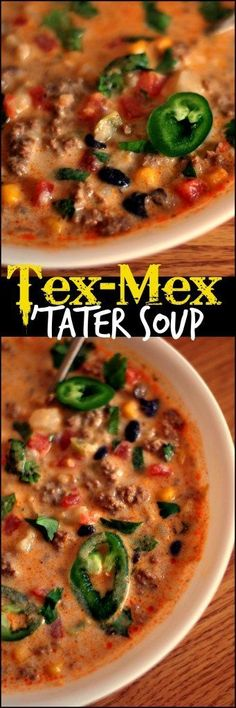 This Tex-Mex Tater Soup is the ultimate in Mexican comfort food. Ready on the stove top in under 30 minutes, or let it cook away in the slow cooker. Either way, it's the perfect bowl of potato soup goodness, with a Southwest twist, that can be enjoyed any day of the week!