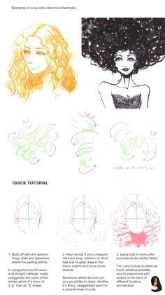 How to Draw : Hairstyles Pt. 2 Finally sat down and completed part 2 of the hair tutorial. Here I discuss how to draw hairstyles for female characters although I think it can be applied for male characters as well.hair is hair xD I didnt. Hair Reference, Drawing Reference Poses, Drawing Skills, Drawing Tips, Learn Drawing, Drawing Tutorials, Drawing Techniques, Art Tutorials, Drawing Male Hair
