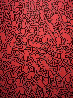 Cool artwork by Keith Haring Graffiti Lettering, Graffiti Art, Principles Of Art Unity, Keith Allen, Keith Haring Art, Pop Art, Patricia Field, Queer Art, Red Aesthetic