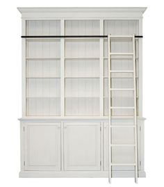 MANHATTAN French Provincial Library Cabinet - Antique White