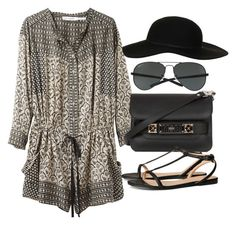 """Untitled #978"" by kaysterhipster ❤ liked on Polyvore featuring Étoile Isabel Marant, Topshop, Ray-Ban, Proenza Schouler and H&M"