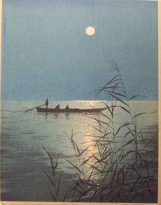 Shoda Koho, Moonlit Sea. 1910-20. Woodblock print, 7 1/8 x 9 1/8 in.