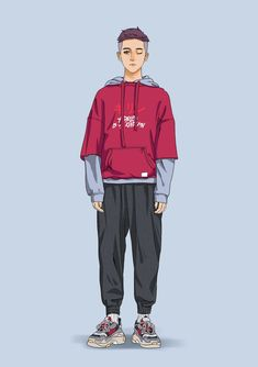 Illustration Mode, Fashion Illustration Sketches, Fashion Design Sketches, Character Illustration, Character Outfits, Character Art, Boy Fashion, Fashion Art, Clothing Sketches