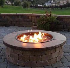 Diy Fire Pit, Fire Pit Backyard, Backyard Patio, Backyard Ideas, Backyard Seating, Patio Ideas, Backyard Cookout, Outdoor Patios, Pergola Patio